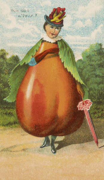 Restore Wall Art - Drawing - How Do I A Pear by Aged Pixel