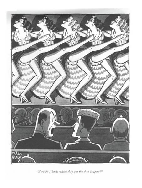 Drawing - How Do I Know Where They Got The Shoe Coupons? by Peter Arno