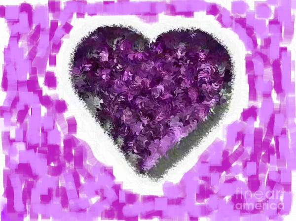 Nonprofit Digital Art - How Do I Live Purple by Holley Jacobs