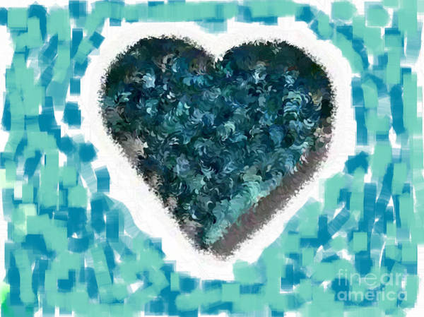Nonprofit Digital Art - How Do I Live Teal by Holley Jacobs