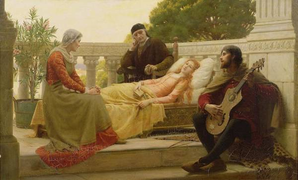 Dying Painting - How Liza Loved The King, 1890 by Edmund Blair Leighton