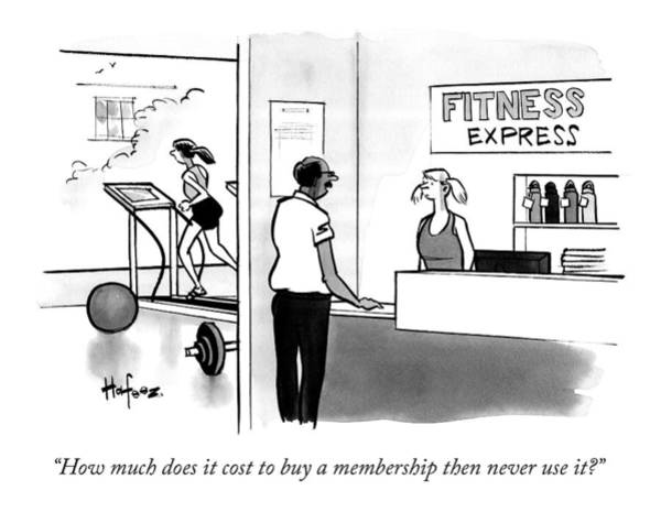 Hafeez Drawing - How Much Does It Cost To Buy A Membership by Kaamran Hafeez