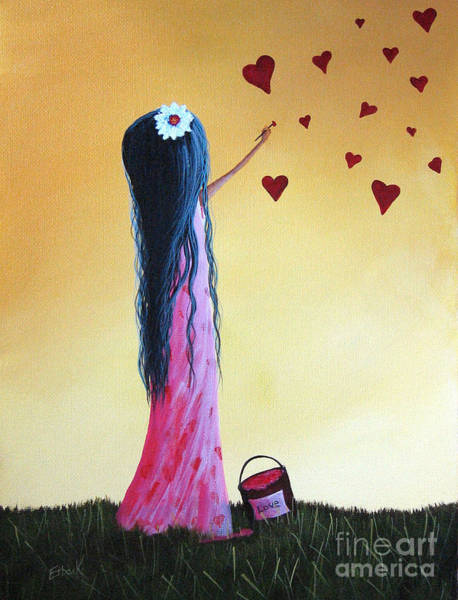 I Dream Painting - How She Says I Love You By Shawna Erback by Erback Art