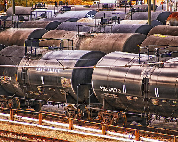 Photograph - How Sweet It Is - Tank Cars by Bill Swartwout Photography