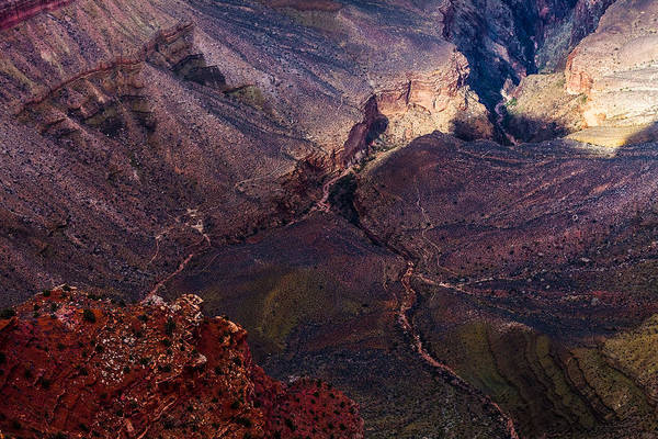 Photograph - How The Grand Canyon Gets Carved by Ed Gleichman