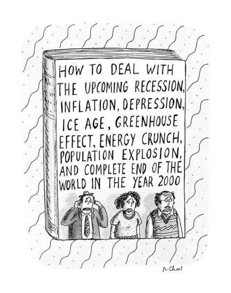 Explosion Drawing - How To Deal With The Upcoming Recession by Roz Chast