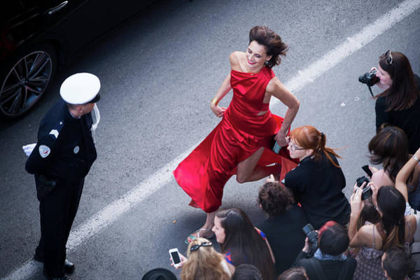 Red Dress Photograph - How To Train Your Dragon 2 Premiere - by Francois Durand