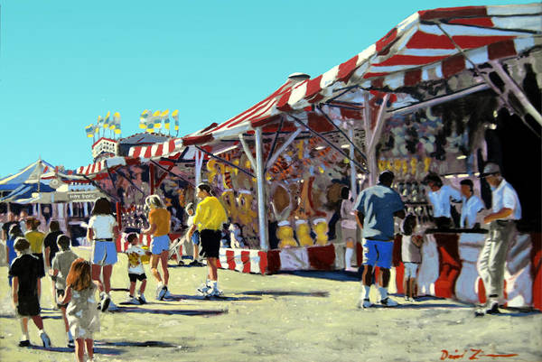 County Fair Painting - Howard County Fair by David Zimmerman