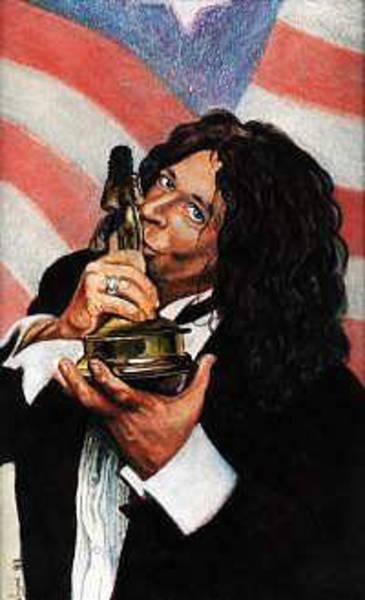 Howard Stern Wall Art - Painting - Howard Stern by John Kennedy Wilson