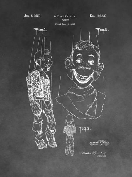 Wall Art - Mixed Media - Howdy Doody Patent by Dan Sproul