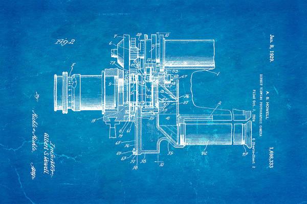 Wall Art - Photograph - Howell Direct Viewing Camera 2 Patent Art 1929 Blueprint by Ian Monk