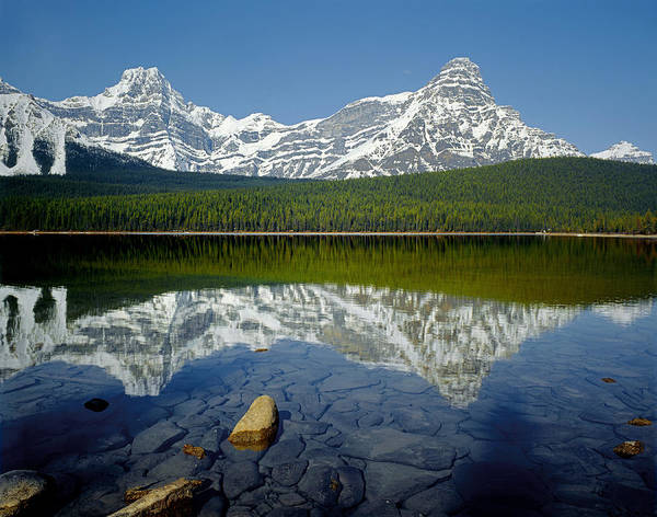 Photograph - 1m3643-howse Peak, Mt. Chephren Reflect by Ed  Cooper Photography