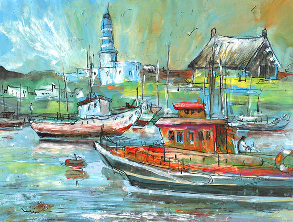 Painting - Howth Harbour 01 by Miki De Goodaboom