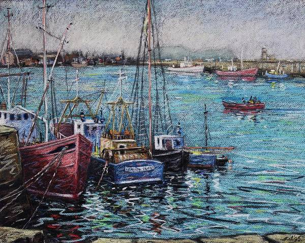 Wall Art - Pastel - Howth Harbour  Dublin by John  Nolan