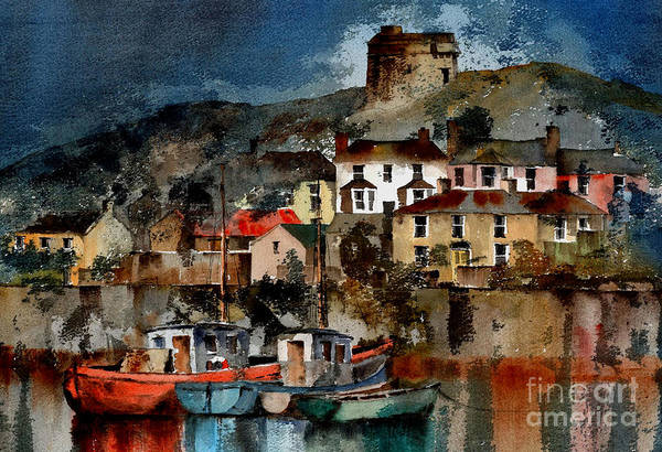 Painting - Howth Harbour In County Dublin by Val Byrne