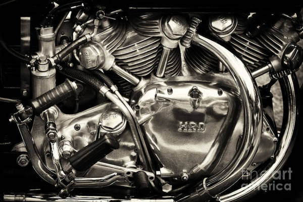 Chrome Engine Photograph - Hrd Engine by Tim Gainey