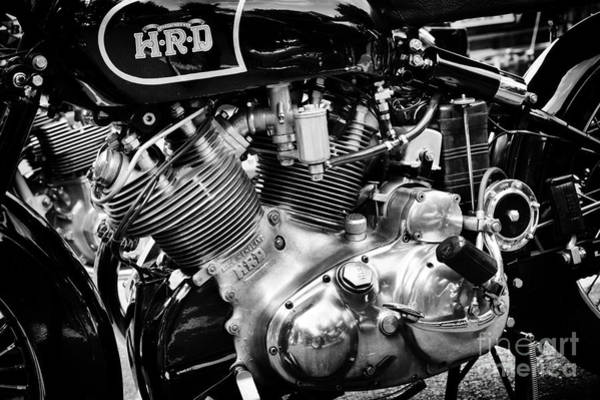 Chrome Engine Photograph - HRD by Tim Gainey