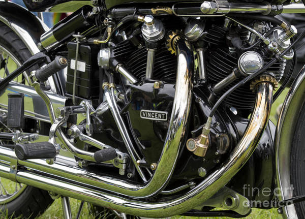 Photograph - Hrd Vincent Series D Motorcycle  by Tim Gainey