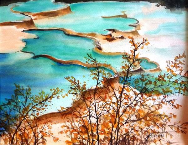 Huanglong Blue Art Print