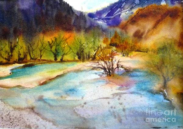Painting - Huanglong Fairyland by Betty M M   Wong