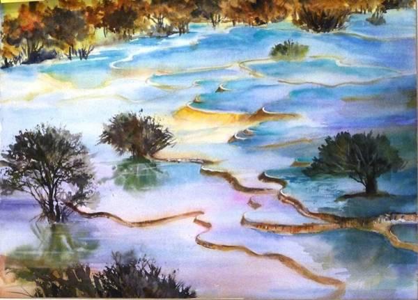 Huanglong Splendour Art Print