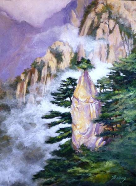 Painting - Huangshan Magnificence by Betty M M   Wong