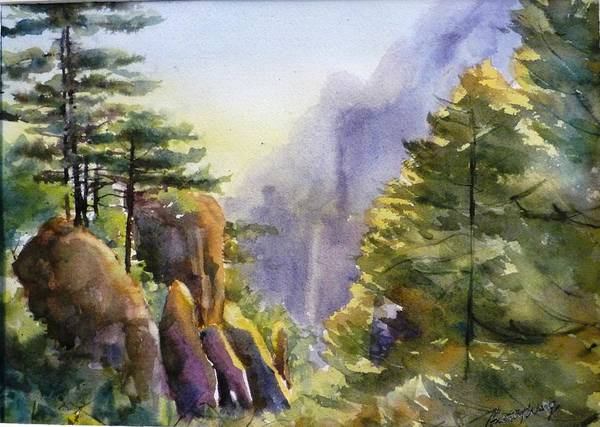 Painting - Huangshan Scenery by Betty M M   Wong