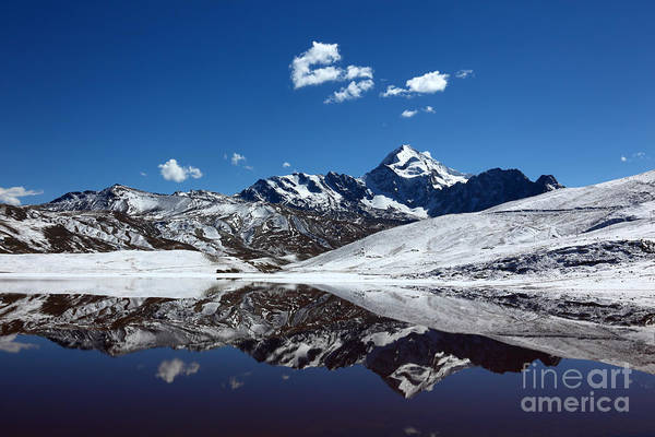 Photograph - Huayna Potosi Reflections by James Brunker