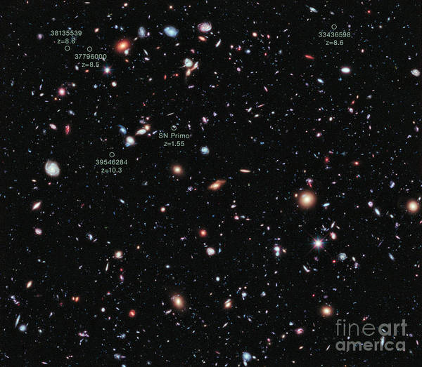 Photograph - Hubble Extreme Deep Field Xdf by Science Source