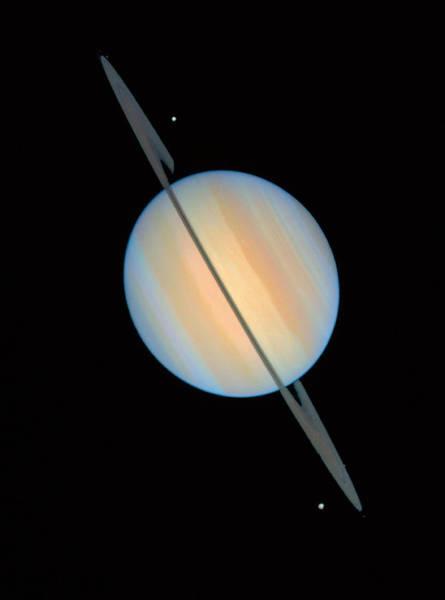 Dione Photograph - Hubble Image Of Saturn by Nasaesastscie.karkoschka, U.arizona
