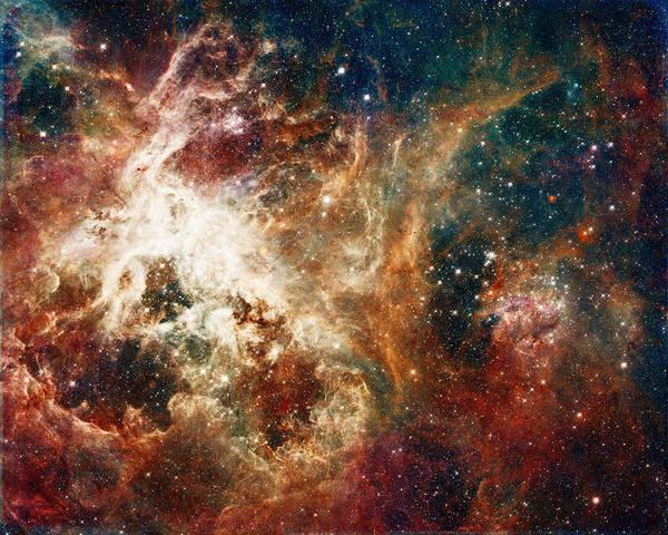 Photograph - Hubble - Turbulent Star-making Region by Paulette B Wright
