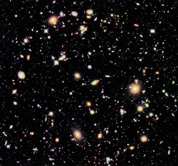 Ir Photograph - Hubble Ultra Deep Field 2012 by Nasa/esa/stsci/r. Ellis (caltech), And The Udf 2012 Team/science Photo Library