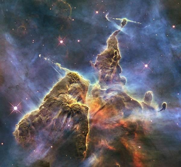 Photograph - Hubble's Fantasy Mountaintops  by Barry Jones
