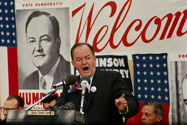 Notable Photograph - Hubert Humphrey by Jack Rosen