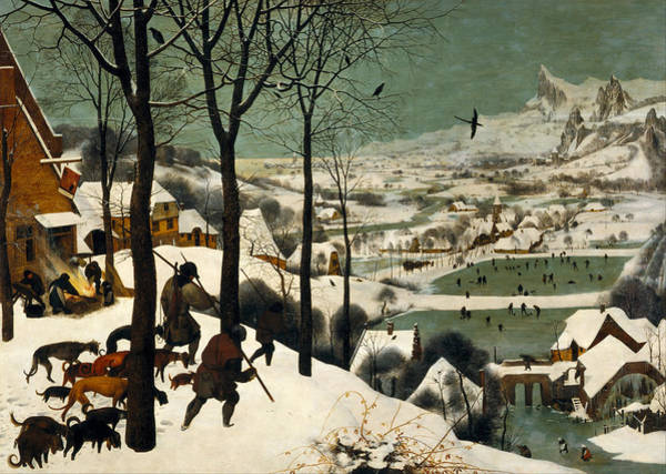 The Elder Painting - Hunters On The Snow by Pieter Bruegel the Elder