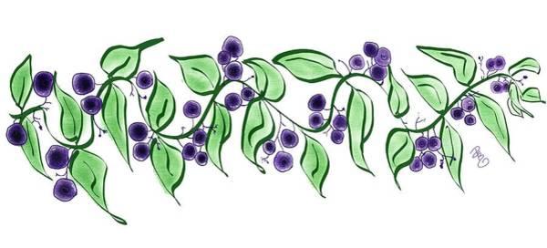 Ingredient Digital Art - Huckleberry Branch by Debra Baldwin