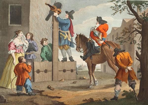 Horseback Drawing - Hudibras Leading Crowdero In Triumph by William Hogarth