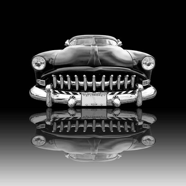 1952 Hudson Hornet Photograph - Hudson Reflection On Black by Gill Billington