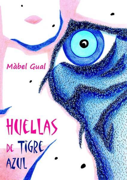 White Tiger Drawing - Huellas De Tigre Azul - Libro De Poemas Eroticos - Mabel Gual by Arte Venezia
