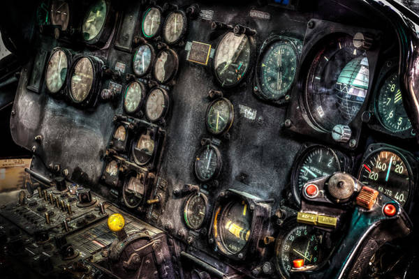 Photograph - Huey Instrument Panel 2 by David Morefield