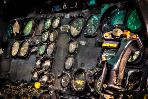 Bell Photograph - Huey Instrument Panel by David Morefield
