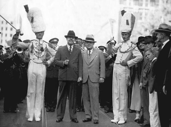 Honour Wall Art - Photograph - Huey Long And Governor Conner by Underwood Archives