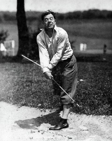 Middle Aged Photograph - Huey P. Long Play Golf by Artist Unknown