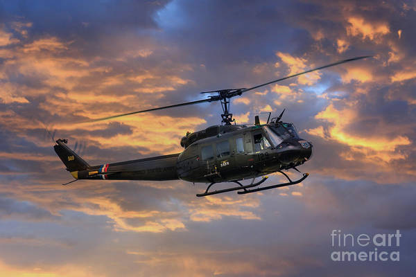 Bell Digital Art - Huey - Vietnam Workhorse by J Biggadike