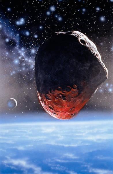Wall Art - Photograph - Huge Asteroid Entering Earths Atmosphere by Steve A. Munsinger