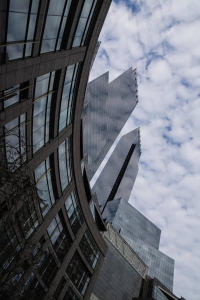 Photograph - Hugging The Clouds At Columbus Circle - Manhattan New York City by Georgia Mizuleva