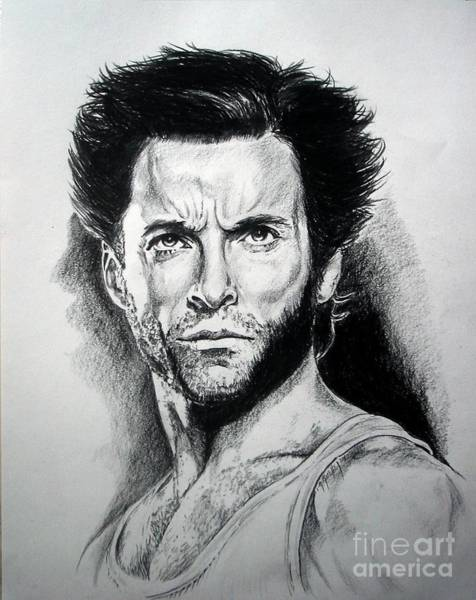 Wolverines Drawing - Hugh Jackman As Wolverine by Iracema Marianne Muller