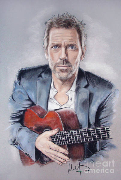 Wall Art - Drawing - Hugh Laurie by Melanie D