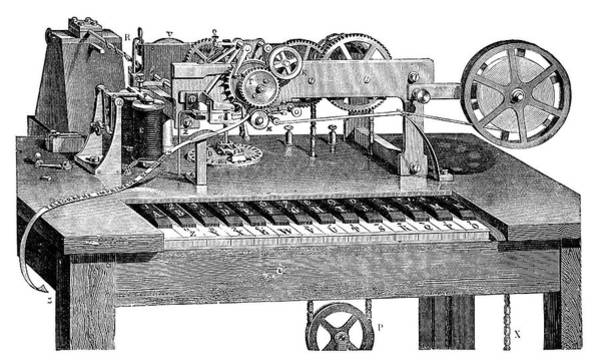 Printing Photograph - Hughes Printing Telegraph by Science Photo Library