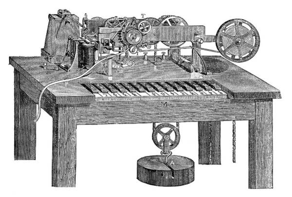 Printer Photograph - Hughes's Printing Telegraph by Science Photo Library